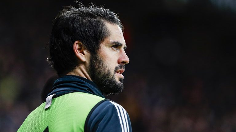 Real Madrid CF midfielder Isco (22) during the match RCD Espanyol against Real Madrid CF, for the round 21 of the Liga Santander, played at RCD Espanyol Stadium  on 27th January 2018 in Barcelona, Spain. (Credit: Mikel Trigueros/Urbanandsport / NurPhoto) -- (Photo by Urbanandsport/NurPhoto)