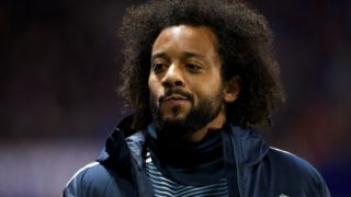 Marcelo of Real Madrid during the week 25 of La Liga match between Levante UD and Real Madrid at Ciutat de Velencia Stadium in Valencia, Spain on February 24, 2019.   (Photo by Jose Breton/NurPhoto)
