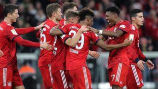 firo: 17.03.2019, Fuvuball, 1.Bundesliga, season 2018/2019, FC Bayern Munich - 1. FSV FSV Mainz 05, Kingsley Coman, David Alaba, FC Bayern, Munich, Munich, Bayern Munich, half figure, jubilation | usage worldwide