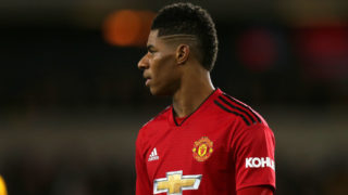 WOLVERHAMPTON, ENGLAND - MARCH 16: Marcus Rashford of Manchester United during the FA Cup Quarter Final match between Wolverhampton Wanderers and Manchester United at Molineux on March 16, 2019 in Wolverhampton, England. (Photo by Molly Darlington - AMA/Getty Images)