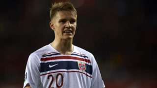 Martin Odegaard of Norway in action during the 2020 UEFA European Championships group F qualifying match between Spain and Norway at Estadi de Mestalla on March 23, 2019 in Valencia, Spain. (Photo by Jose Breton/NurPhoto)