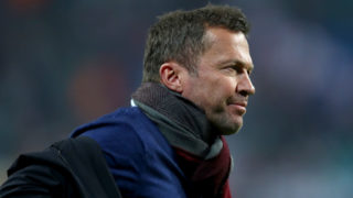 LEIPZIG, GERMANY - MARCH 30: TV expert Lothar Matthaeus looks on during the Bundesliga match between RB Leipzig and Hertha BSC at Red Bull Arena on March 30, 2019 in Leipzig, Germany. (Photo by Martin Rose/Bongarts/Getty Images)