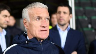 France's head coach Didier Deschamps is seen ahead of the Euro 2020 qualifying football match between Moldova and France, on March 22, 2019 at Zimbru stadium in Chisinau. (Photo by FRANCK FIFE / AFP)