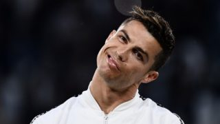 Juventus' Portuguese forward Cristiano Ronaldo looks on during the Italian Serie A football match between Juventus and Torino on May 3, 2019, at the Allianz Stadium in Turin. (Photo by MARCO BERTORELLO / AFP)