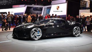 5803879 05.03.2019 The new Bugatti La Voiture Noire is displayed at the 89th Geneva International Motor Show in Geneva, Switzerland. Mikhail Voskresenskiy / Sputnik