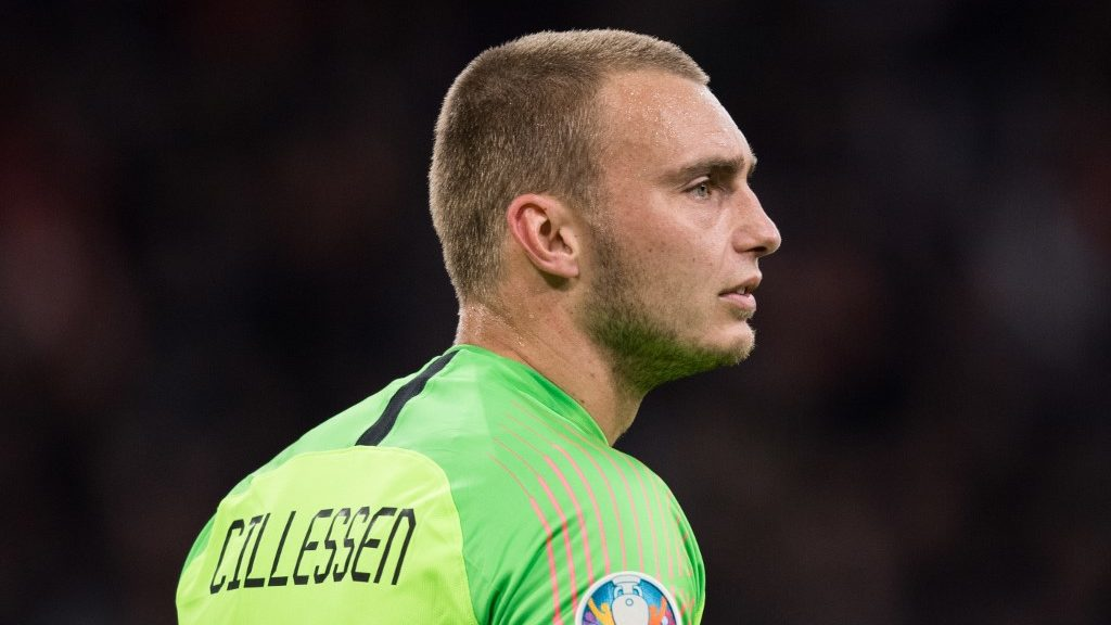 goalie Jasper CILLESSEN (NED) is disappointed, disappointed, disappointment, disappointment, sad, frustratedriert, frustrated, gefustratedet, Brustbild, Fussball Laenderspiel, EURO Qualification, Group C, Netherlands (NED) - Germany (GER) 2: 3, 24.03 .2019 at the Johan Cruyff Arena in Amsterdam / Netherlands. ## DFB / UEFA regulations prohibit any use of photographs as image sequences and / or quasi-video ## ¬ | usage worldwide