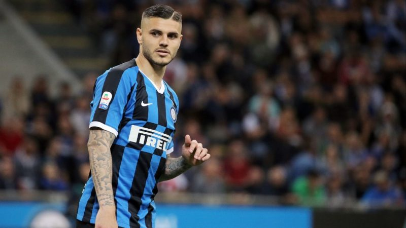 Mauro Icardi #9 of FC Internazionale Milano during the serie A match between FC Internazionale and Empoli FC at Stadio Giuseppe Meazza on May 13, 2019 in Milan, Italy. (Photo by Giuseppe Cottini/NurPhoto)