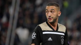 Hakim Ziyech #22 of Ajax during the UEFA Champions League UEFA Champions League Quarter Final Second Leg match between Juventus FC and Ajax at Allianz Stadium on April 16, 2019 in Turin, Italy. (Photo by Giuseppe Cottini/NurPhoto)