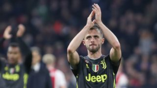 Miralem Pjanic during the UEFA Champions League first leg quarter-final football match between Ajax Amsterdam and Juventus FC at the Johan Cruijff ArenA in Amsterdam on April 10, 2019.  (Photo by Ahmad Mora/NurPhoto)