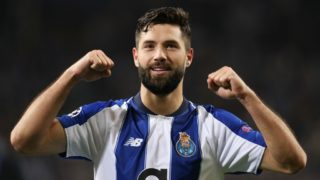 Porto's Brazilian defender Felipe celebrates the victory in the match during the UEFA Champions League, match between FC Porto and AS Roma, at Dragao Stadium in Porto on March 6, 2018 in Porto, Portugal. (Photo by Paulo Oliveira / DPI / NurPhoto)