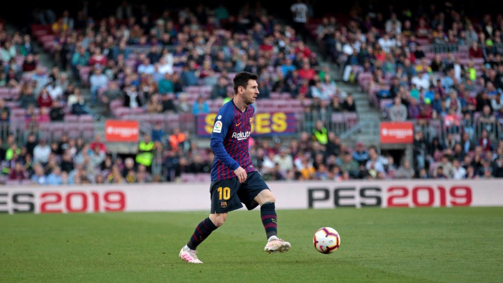 Leo Messi during the match between FC Barcelona angd Getafe, corresponding to the round 37 of the Liga Santander, played at the Camp Nou Stadium, on 12th May 2019, in Barcelona, Spain.   -- (Photo by Urbanandsport/NurPhoto)