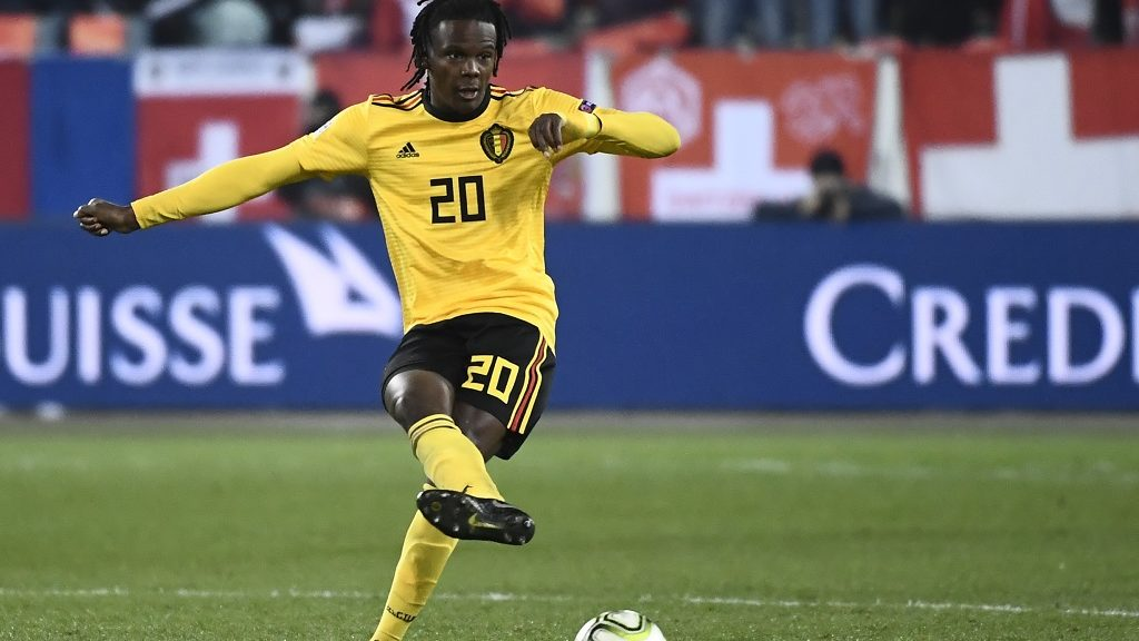 Belgium's Dedryck Boyata pictured in action during a soccer game between Switzerland and Belgian national team the Red Devils in Luzern, Switzerland, Sunday 18 November 2018, the last game in group 2 of the UEFA Nations League A competition. BELGA PHOTO DIRK WAEM