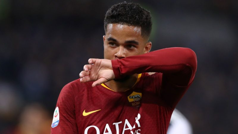 Justin Kluivert of Roma during the Italian Serie A football match AS Roma v Fc Juventus at the Olimpico Stadium in Rome, Italy on May 12, 2019  (Photo by Matteo Ciambelli/NurPhoto)