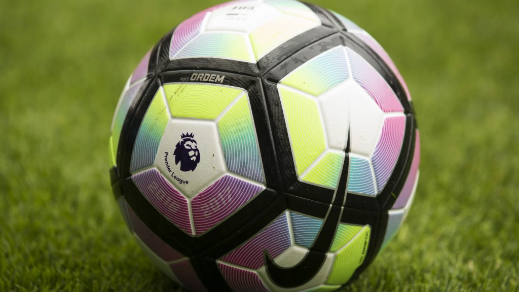 The 2016-2017 English Premier League logo is seen on the match ball ahead of the pre-season friendly football match between Wigan Athletic and Manchester United at the DW stadium in Wigan, northwest England, on July 16, 2016. (Photo by JON SUPER / AFP) / RESTRICTED TO EDITORIAL USE. No use with unauthorized audio, video, data, fixture lists, club/league logos or 'live' services. Online in-match use limited to 75 images, no video emulation. No use in betting, games or single club/league/player publications. /