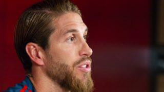 Sergio Ramos of Spain holds a press conference ahead of the UEFA European Qualifiers Group F football match between Spain and Sweden at Santiago Bernabeu Stadium on June 09, 2019 in Madrid, Spain (Photo by Oscar Gonzalez/NurPhoto)