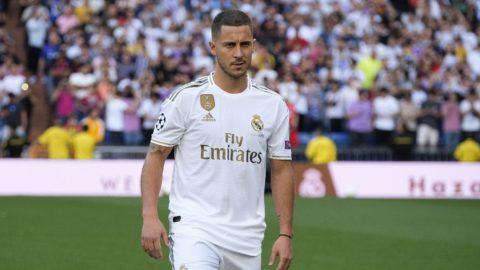 Real Madrid unveil new signing Eden Hazard at Estadio Santiago Bernabeu on June 13, 2019 in Madrid, Spain.  (Photo by Oscar Gonzalez/NurPhoto)
