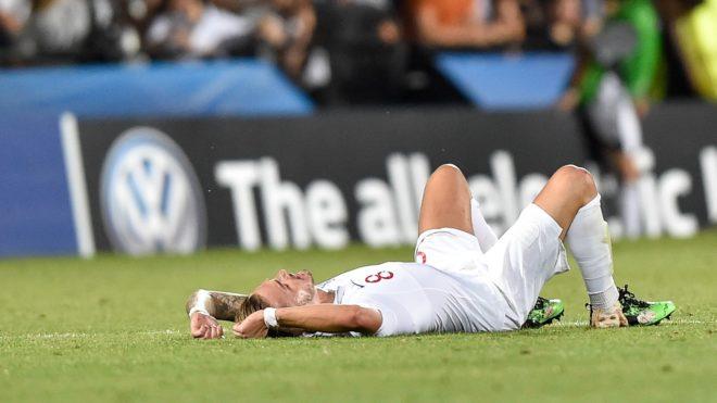 "James Maddison of England looks dejected at the end of  the 2019 UEFA EURO U-21 Championship match between England U-21 and France U-21 at Orogel Stadium ""Dino Manuzzi"", Cesena, Italy on 18 June 2019. (Photo by Giuseppe Maffia/NurPhoto)"