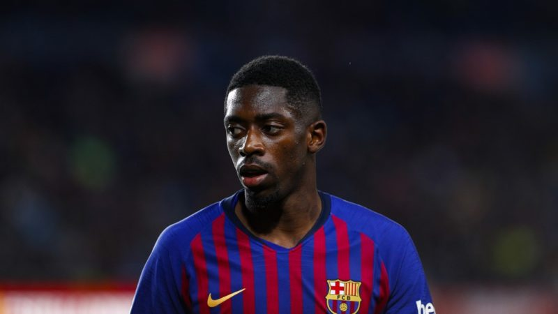 FC Barcelona forward Ousmane Dembele (11) during the match FC Barcelona against Real Sociedad, for the round 33 of La Liga played at Camp Nou  on 20th April 2019 in Barcelona, Spain. (Credit: Mikel Trigueros/Urbanandsport / NurPhoto) -- (Photo by Urbanandsport/NurPhoto)