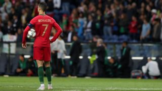 PORTO, PORTUGAL - JUNE 5:  Portugal's forward Cristiano Ronaldo during the UEFA Nations League Semi-Final football match Portugal vs Switzerland, at the Dragao stadium, on June 5, 2019 in Porto, Portugal. (Photo by Pedro Fiúza/NurPhoto)