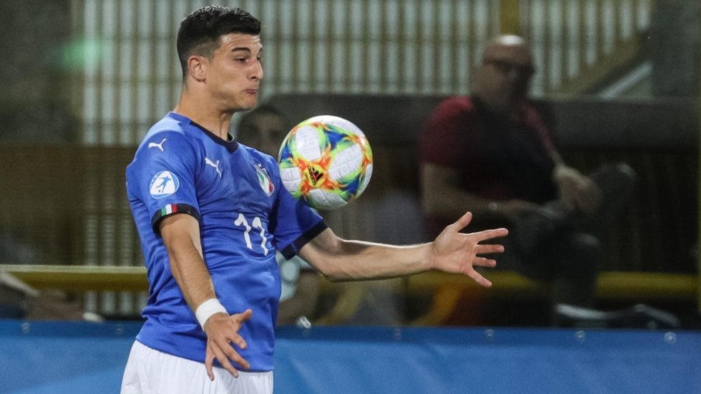 Riccardo Orsolini of Italy U21 during the UEFA UNDER21 Championship match between Italy and Poland at Renato Dall'Ara on June 19, 2019 in Bologna, Italy. (Photo by Emmanuele Ciancaglini/NurPhoto)