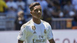 Rodrygo Goes is presented as new player of Real Madrid at Santiago Bernabeu Stadium in Madrid, Spain. June 18, 2019. (Photo by A. Ware/NurPhoto)