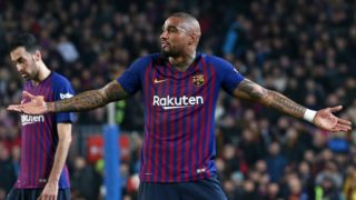 Kevin Prince Boateng during the match between FC Barcelona and Valladolid CF, corresponding to the week 34 of the Liga Santander, played at the Camp Nou Stadium, on 16th February 2019, in Barcelona, Spain. (Photo BY Joan Valls/Urbanandsport /NurPhoto)