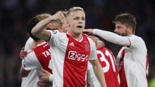 firo: 08.05.2019 Football, 2018/2019, CL, CHL, Champions League, Semifinals Ruckspiel Ajax Amsterdam Tottenham Hotspur 2: 3. jubilation, Donny van de Beek,   usage worldwide