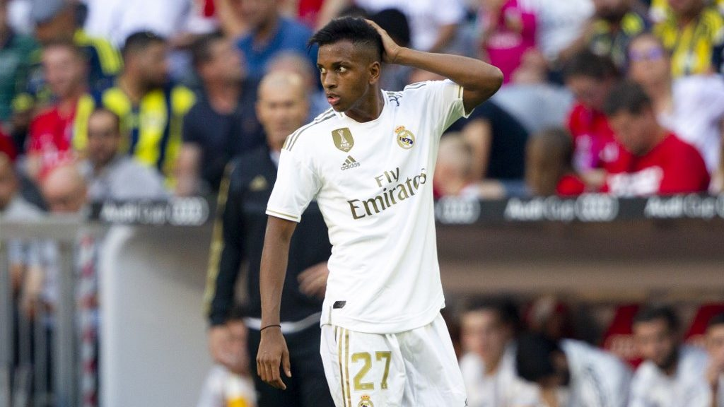 Rodrygo SILVADEGOES (# 27, REAL). Soccer, Real Madrid (REAL) - Tottenham Hotspur (TOT), Audi Cup 2019, Semifinals, on 07/30/2019 in Muenchen / ALLIANZARENA / Germany. ¬ | usage worldwide