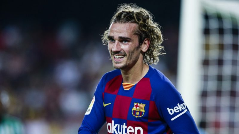 17 Antoine Griezmann from France of FC Barcelona during the La Liga match between FC Barcelona and Real Betis Balompie in Camp Nou Stadium in Barcelona 25 of August of 2019, Spain.  (Photo by Xavier Bonilla/NurPhoto)