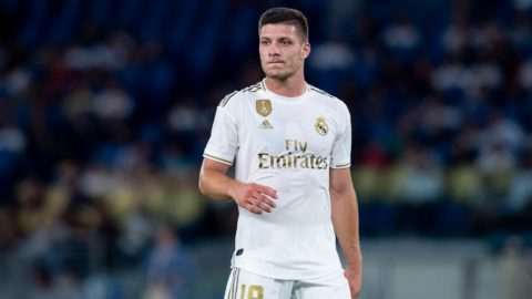 Luka Jovic of Real Madrid during the pre-season friendly match between AS Roma and Real Madrid at Stadio Olimpico, Rome, Italy on 11 August 2019 (Photo by Giuseppe Maffia/NurPhoto)
