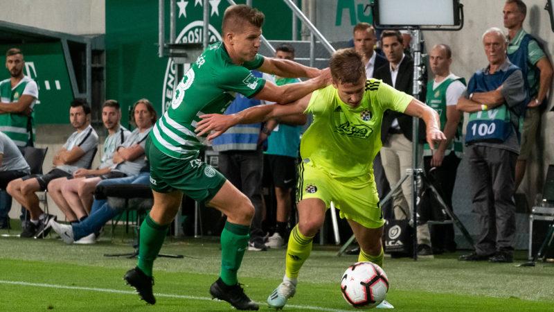 A horvát Dinamo Zagreb és a FTC mérkõzése a Bajnokok Ligája-selejtezõjében