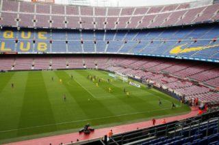 La Liga match between FC Barcelona v UD Las Palmas that has been played behind closed doors, in Barcelona, on October 01, 2017.  (Photo by Urbanandsport/NurPhoto)