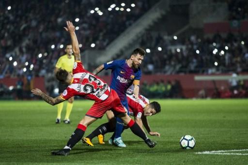 Leo Messi from Argentina of FC Barcelona during the La Liga match between Girona FC v FC Barcelona  at Montilivi Stadium on September 23, 2017 in Girona, Spain.  (Photo by Xavier Bonilla/NurPhoto)