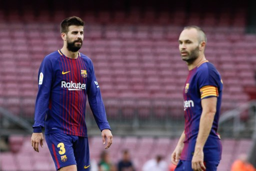 Gerard Pique of FC Barcelona during the Spanish championship Liga football match between FC Barcelona and Las Palmas on October 1, 2017 at Camp Nou stadium in Barcelona, Spain - Photo Andres Garcia / Spain DPPI / DPPI