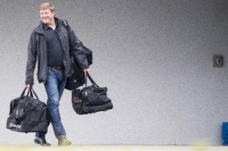 Gent's head coach Hein Vanhaezebrouck leaves after a press conference of Jupiler Pro League club KAA Gent, Wednesday 27 September 2017, in Gent.  BELGA PHOTO JASPER JACOBS