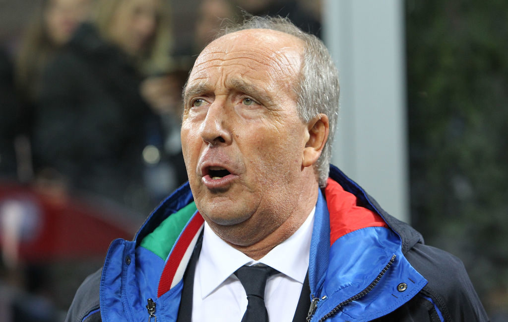 MILAN, ITALY - NOVEMBER 13:  Italy coach Giampiero Ventura looks on before the FIFA 2018 World Cup Qualifier Play-Off: Second Leg between Italy and Sweden at San Siro Stadium on November 13, 2017 in Milan,  (Photo by Marco Luzzani/Getty Images)