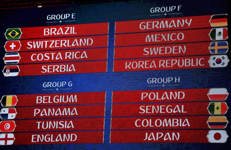 3247549 12/01/2017 The official final draw ceremony of the 2018 FIFA World Cup. Vladimir Astapkovich/Sputnik