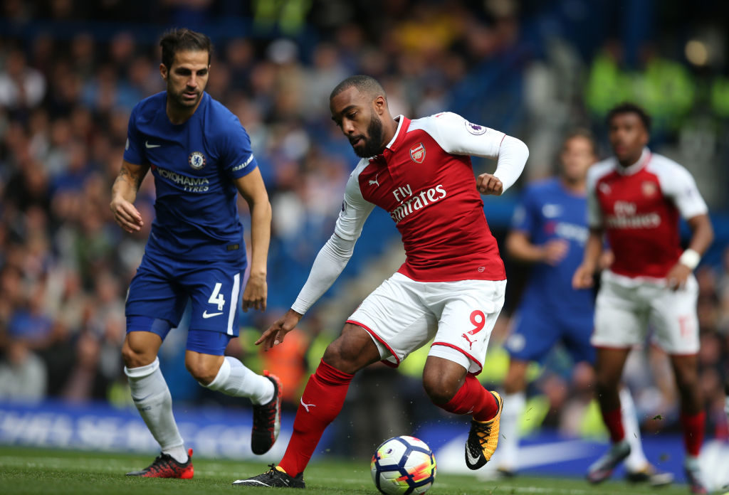 LONDON, ENGLAND - SEPTEMBER 17: Alexandre Lacazette of Arsenal during the Premier League match between Chelsea and Arsenal at Stamford Bridge on September 17, 2017 in London, England. (Photo by Catherine Ivill - AMA/Getty Images)