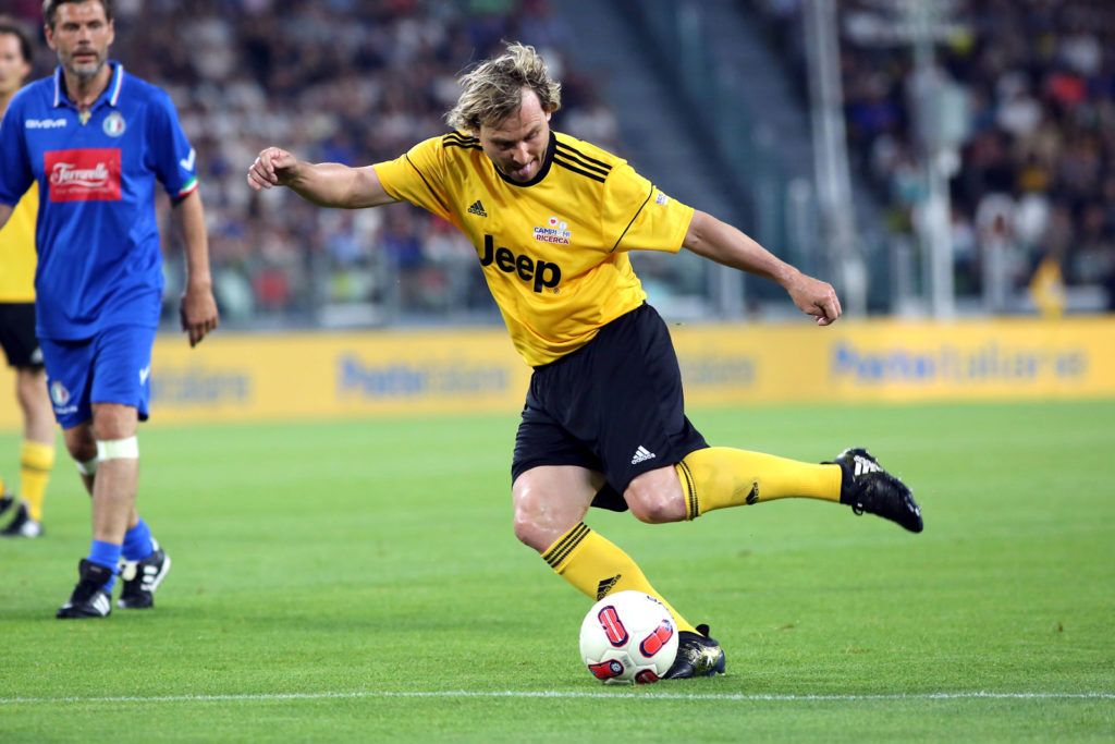 Pavel Nedved in action during the twenty-sixth Partita del Cuore charity football game at Juventus Stadium on may 30, 2017 in Turin, Italy.  (Photo by Massimiliano Ferraro/NurPhoto)