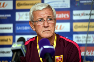 Head coach Marcello Lippi of the Chinese national men's football team attends a press conference for a Group A Round 10 match against Qatar during the 2018 FIFA World Cup Russia Qualifier in Doha, Qatar, 4 September 2017.