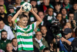 GLASGOW, SCOTLAND - OCTOBER 31: Mikael Lustig of Celtic controls the ball during the UEFA Champions League group B match between Celtic FC and Bayern Muenchen at Celtic Park on October 31, 2017 in Glasgow, United Kingdom. (Photo by TF-Images/TF-Images via Getty Images)