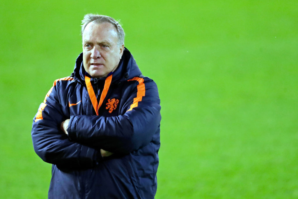 ABERDEEN, UNITED KINGDOM - NOVEMBER 8: coach Dick Advocaat of Holland  during the    match between Training Holland in Aberdeen at the Pittodrie Stadium on November 8, 2017 in Aberdeen United Kingdom (Photo by Laurens Lindhout/Soccrates/Getty Images)