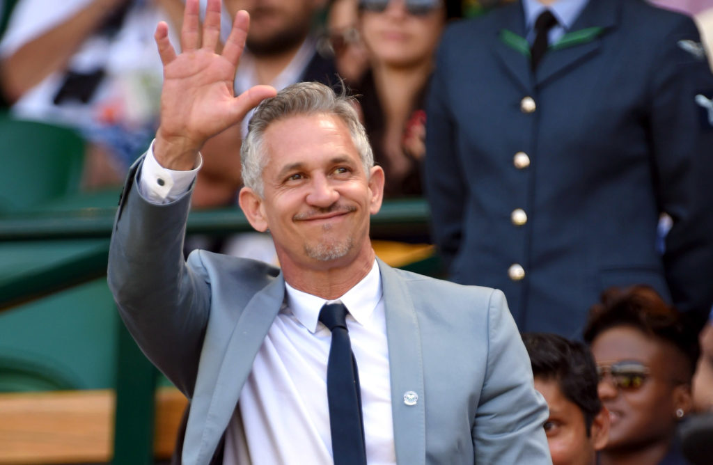 LONDON, ENGLAND - JULY 04:  Gary Lineker attends day six of the Wimbledon Tennis Championships at Wimbledon on July 4, 2015 in London, England.  (Photo by Karwai Tang/WireImage)