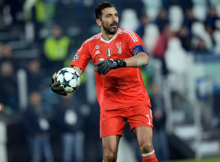 TURIN, ITALY - NOVEMBER 22: Gianluigi Buffon of Juventus  during the UEFA Champions League  match between Juventus v FC Barcelona at the Allianz Stadium on November 22, 2017 in Turin Italy (Photo by Jeroen Meuwsen/Soccrates/Getty Images)
