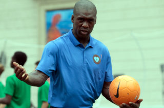 MILAN, ITALY - JUNE 22:  Clarence Seedorf attends a football clinic for integration organized by Italian Football Federation on June 22, 2017 in Milan, Italy.  (Photo by Emilio Andreoli/Getty Images)