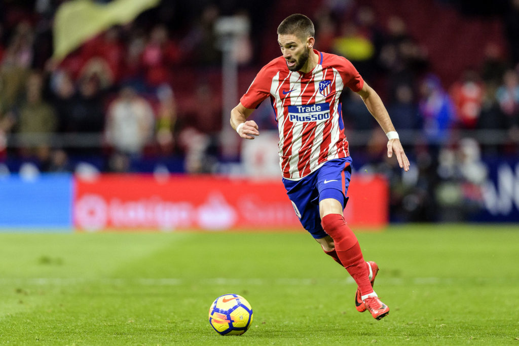 MADRID, SPAIN - DECEMBER 16: Yannick Ferreira Carrasco of Atletico de Madrid in action during the La Liga 2017-18 match between Atletico de Madrid and Deportivo Alaves at Wanda Metropolitano Stadium on 16 December 2017 in Madrid, Spain. (Photo by Power Sport Images/Getty Images)