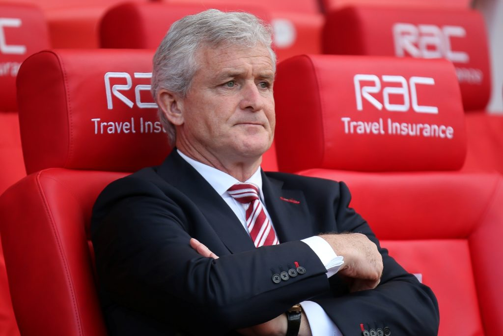 Stoke City manager Mark Hughes during the English championship Premier League football match between Stoke City and Arsenal on May 13, 2017 at the Bet365 Stadium in Stoke-on-Trent, England - Photo Aaron Lupton / ProSportsImages / DPPI
