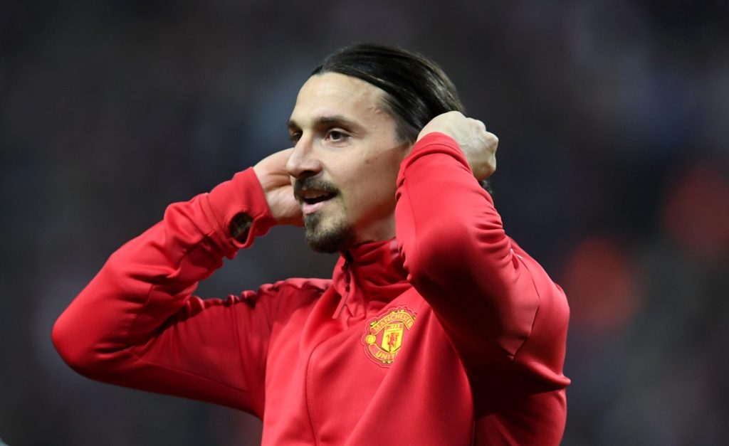 Manchester United's Swedish striker Zlatan Ibrahimovic reacts after victory in the UEFA Europa League final football match Ajax Amsterdam v Manchester United on May 24, 2017 at the Friends Arena in Solna outside Stockholm. / AFP PHOTO / Paul ELLIS
