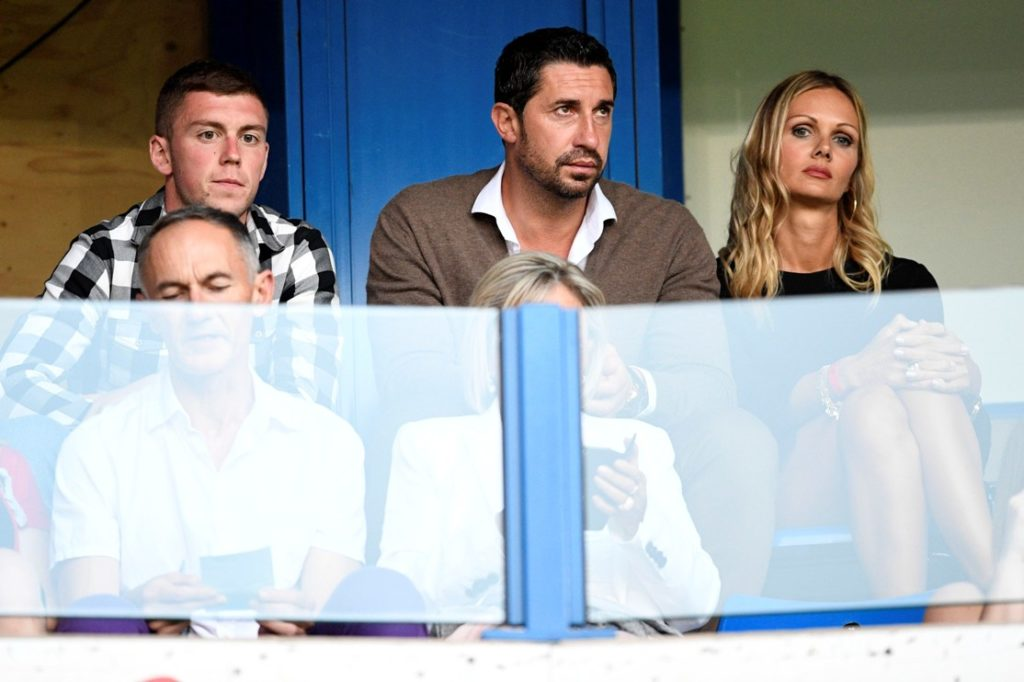 Genk's Bojan Nastic and his manager Ivica Dragutinovic pictured during the Jupiler Pro League match between KRC Genk and Waasland-Beveren, in Genk, Saturday 13 August 2016, on day 3 of the Belgian soccer championship. BELGA PHOTO YORICK JANSENS