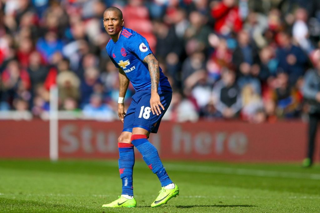 Manchester United midfielder Ashley Young during the English championship Premier League football match between Middlesbrough and Manchester United on March 19, 2017 at the Riverside Stadium in Middlesbrough, England - Photo Simon Davies / Pro Sports Images / DPPI